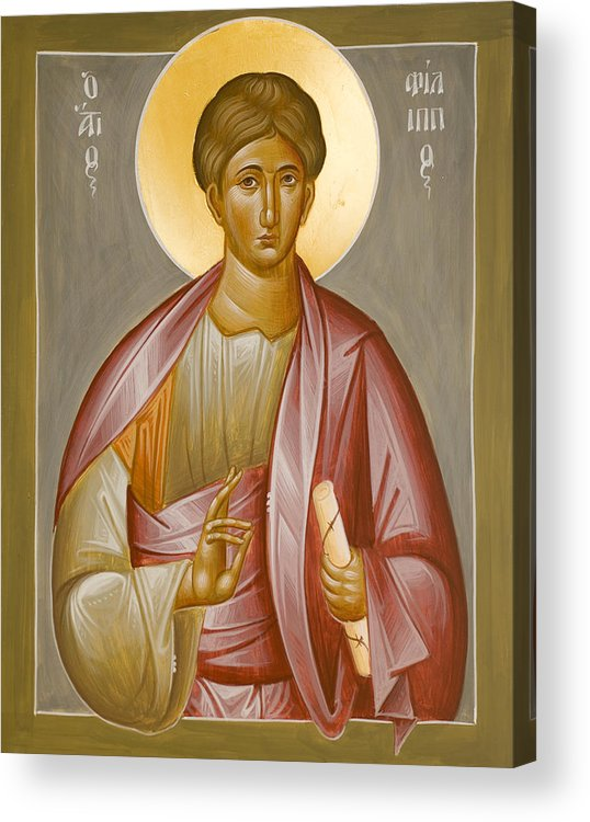 Apostle Philip Acrylic Print featuring the painting Apostle Philip by Julia Bridget Hayes