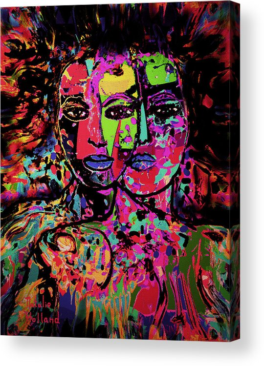 Woman Acrylic Print featuring the mixed media Best Friends Forever by Natalie Holland