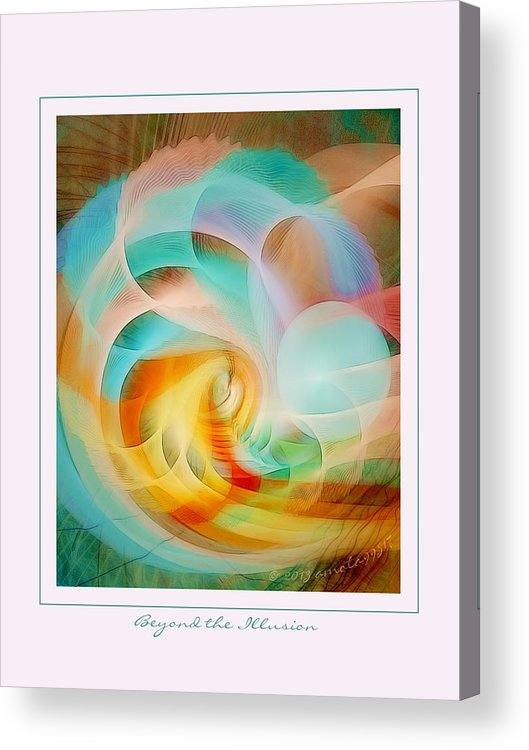Fractal Acrylic Print featuring the digital art Beyond The Illusion by Gayle Odsather