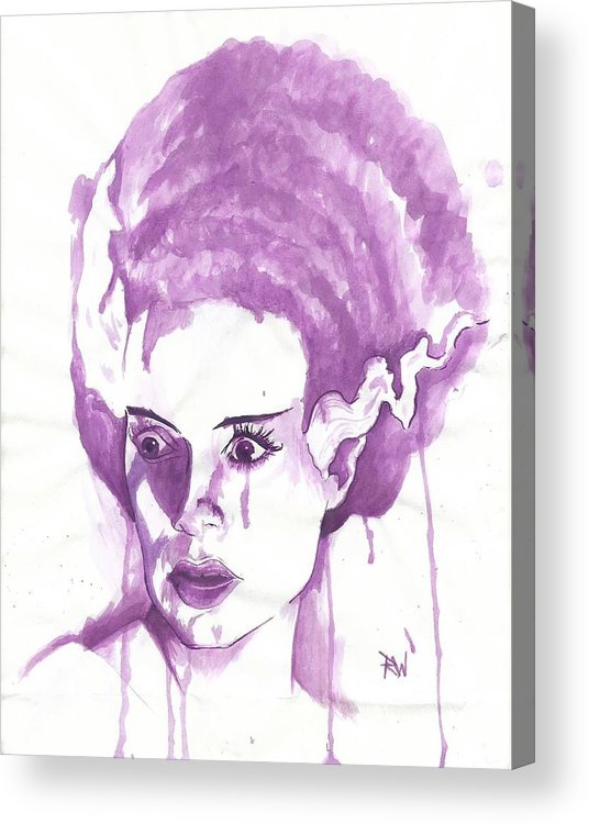 Frankenstein Acrylic Print featuring the painting Bride Of Frankenstein by Ryan Woods