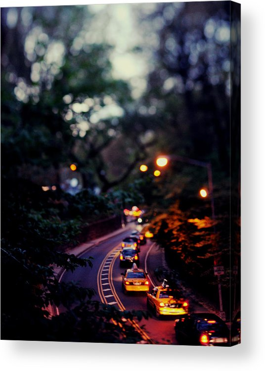 Centralpark Acrylic Print featuring the photograph Central Park Nights by Chelsea Victoria