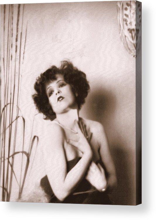 Clara Bow Acrylic Print featuring the photograph Clara Bow by Glenn Aker