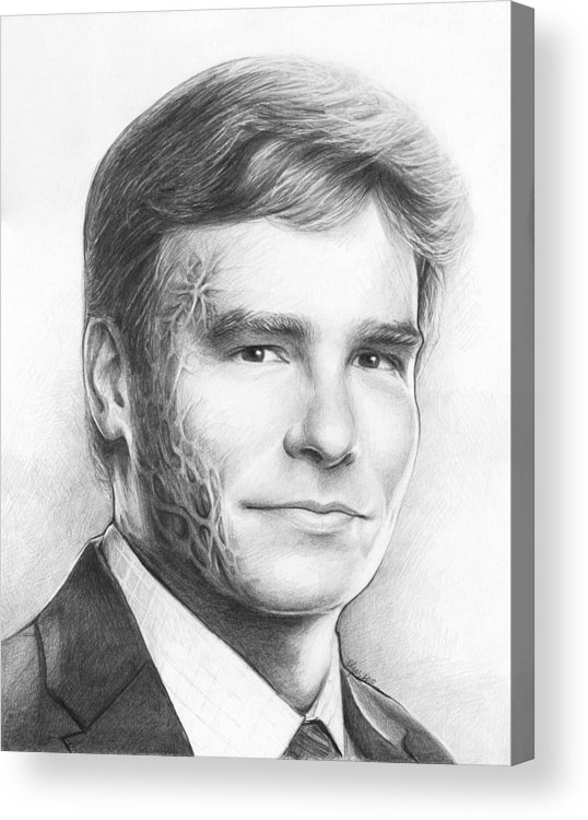 House Md Acrylic Print featuring the drawing Dr. Wilson - House Md by Olga Shvartsur