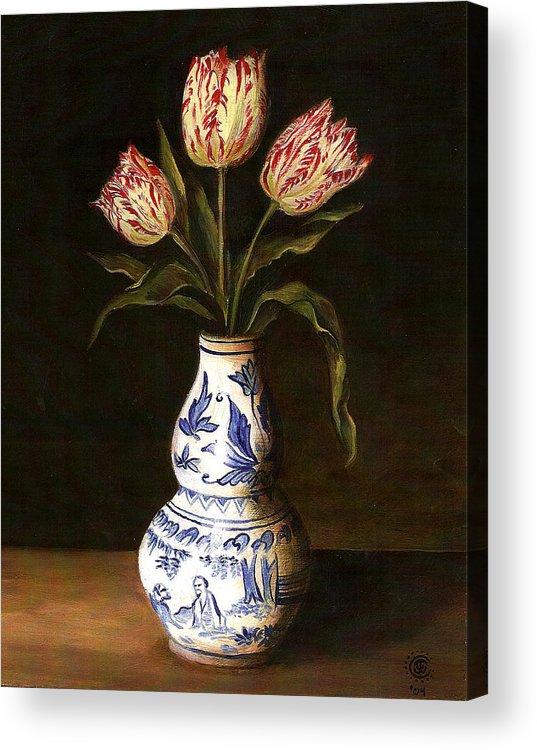 Dutch Still Life Acrylic Print featuring the painting Dutch Still Life by Teresa Carter