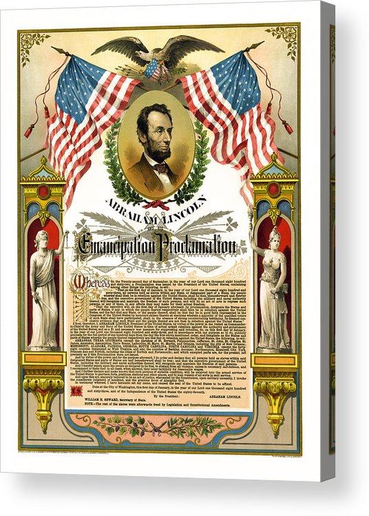 emancipation Proclamation Acrylic Print featuring the photograph Emancipation Proclamation Tribute 1888 by Daniel Hagerman