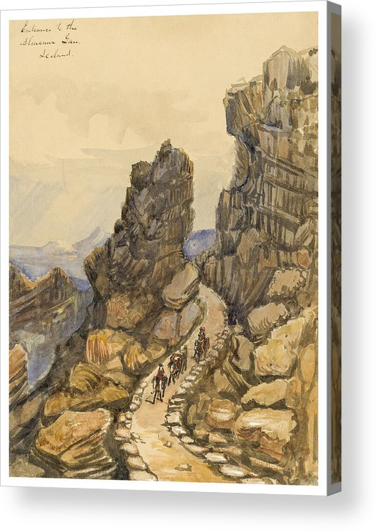 Almanna Gorge Acrylic Print featuring the painting Entrance To The Almanna Gau Circa 1862 by Aged Pixel