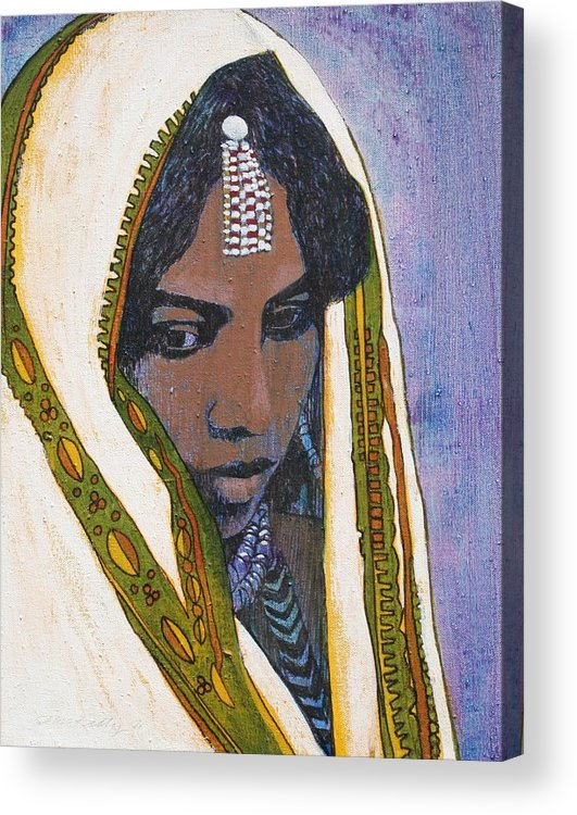 Ethiopian Woman Acrylic Print featuring the painting Ethiopian Woman by J W Kelly