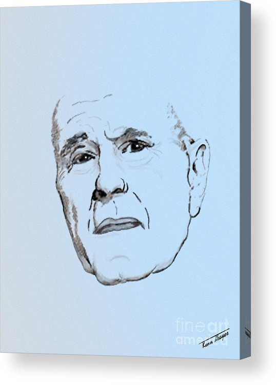 President Acrylic Print featuring the digital art George H. W. Bush by Charles Thayer