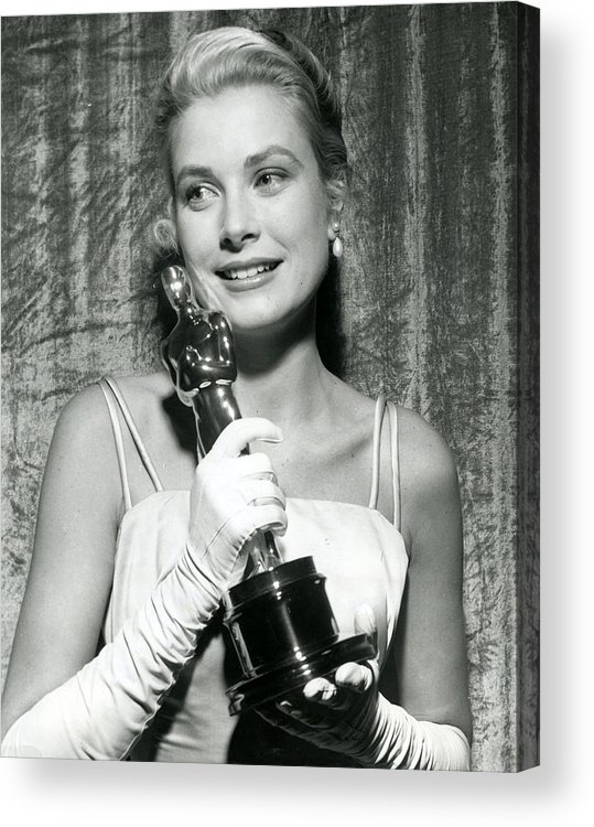 Retro Images Archive Acrylic Print featuring the photograph Grace Kelly At Awards Show by Retro Images Archive