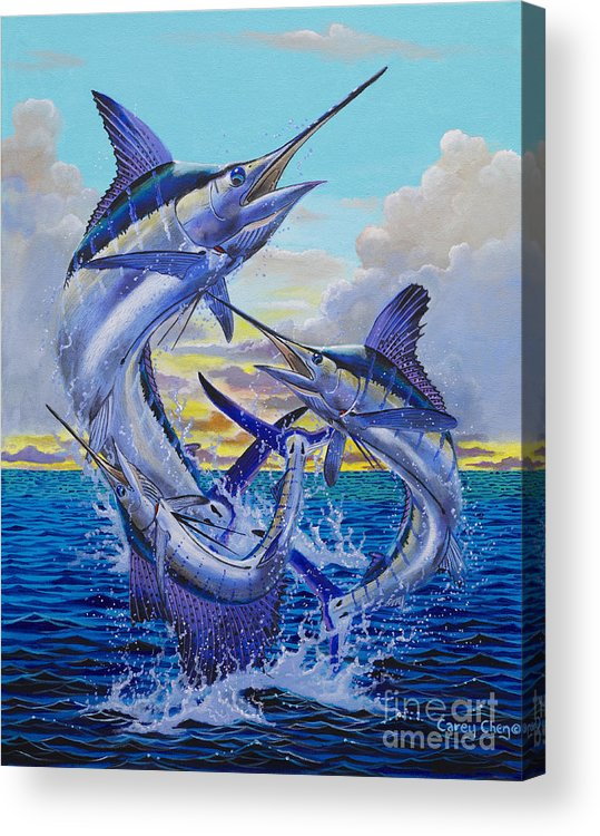 Grand Slam Acrylic Print featuring the painting Grand Slam Off0016 by Carey Chen