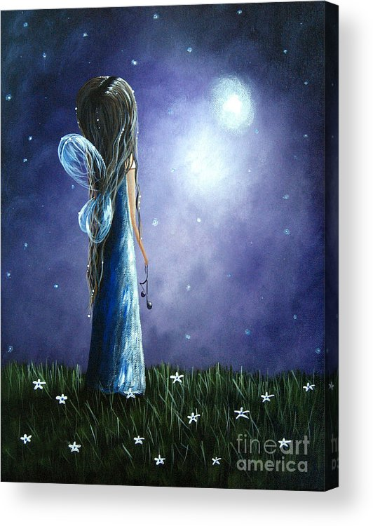 Angels Acrylic Print featuring the painting Heaven's Little Helper By Shawna Erback by Artisan Parlour