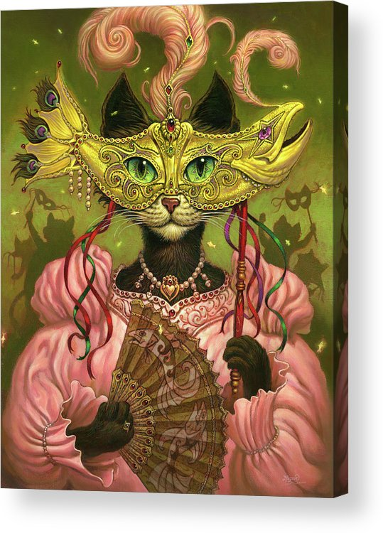 Jeff Haynie Acrylic Print featuring the painting Incatneato by Jeff Haynie