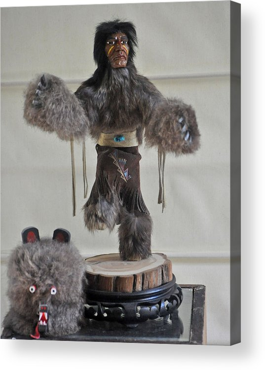 Kachina Doll Acrylic Print featuring the photograph Kachina Doll Bear Head Removed by Jay Milo