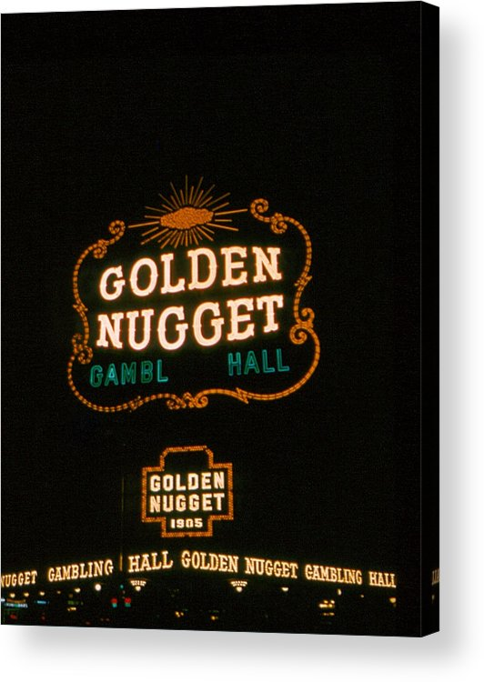 Golden Nugget Acrylic Print featuring the photograph Las Vegas Light 3 by Cathy Anderson