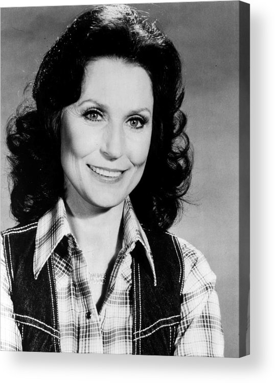 Retro Images Archive Acrylic Print featuring the photograph Loretta Lynn Smiling by Retro Images Archive
