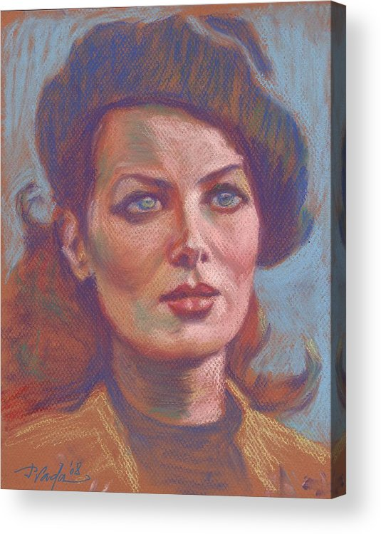 Portrait Acrylic Print featuring the painting Maureen O'hara by Horacio Prada