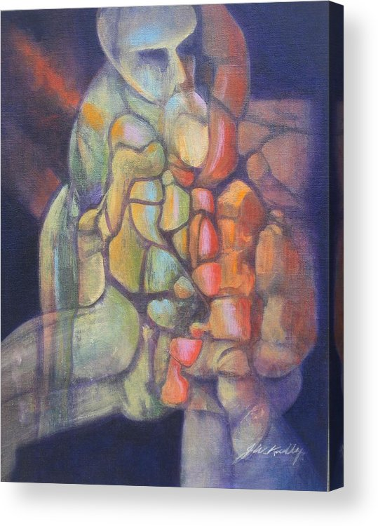 Abstract Image Of Merlin Acrylic Print featuring the painting Merlin by J W Kelly