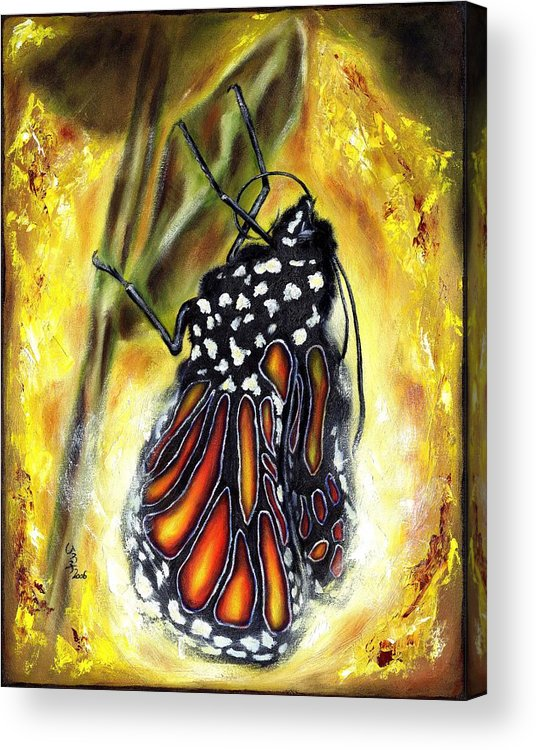 Butterfly Acrylic Print featuring the painting Metamorphosis by Hiroko Sakai