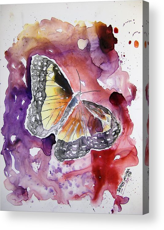 Monarch Acrylic Print featuring the painting Monarch Butterfly by Derek Mccrea