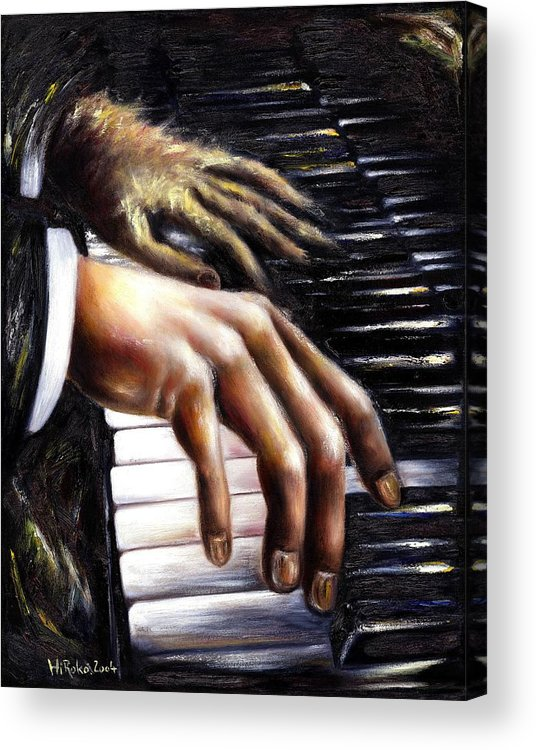 Piano Acrylic Print featuring the painting Nocturne by Hiroko Sakai