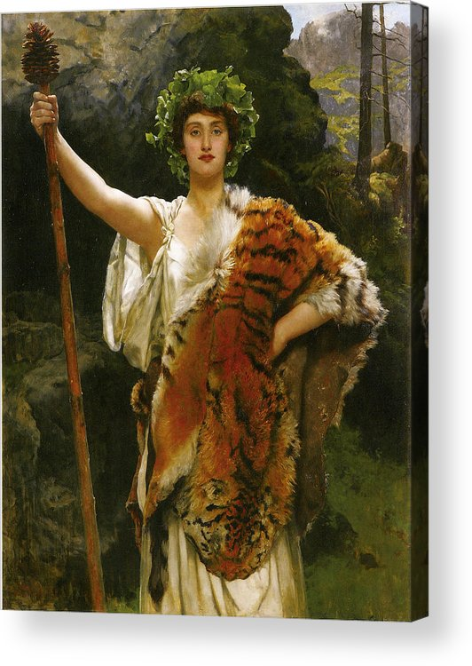 John Collier Acrylic Print featuring the digital art Priestess Bacchus by John Collier