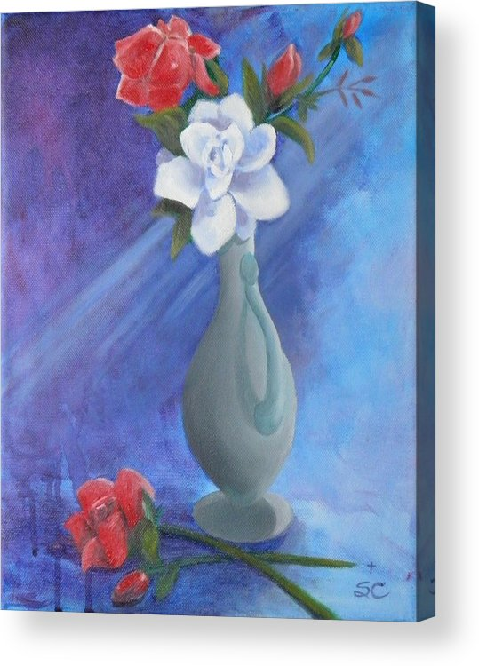 Mom Acrylic Print featuring the painting Remember Mom by Sharon Casavant