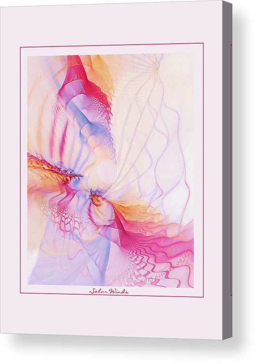 Fractal Acrylic Print featuring the digital art Solar Winds by Gayle Odsather