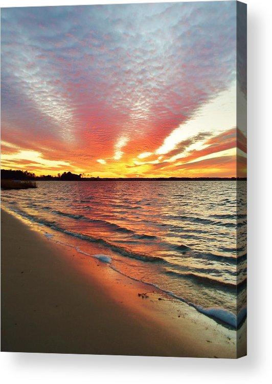 Beach Bum Pics Acrylic Print featuring the photograph Sunset Streaks by William Bartholomew