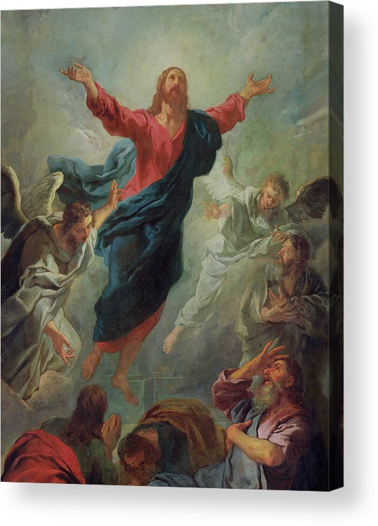 The Ascension Acrylic Print featuring the painting The Ascension by Jean Francois de Troy