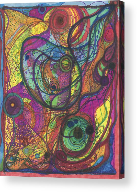 Marker Acrylic Print featuring the drawing The Magnificence Of God by Daina White