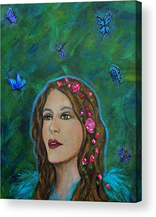 Transformation Acrylic Print featuring the painting The Transformation Of Charlotte by The Art With A Heart By Charlotte Phillips