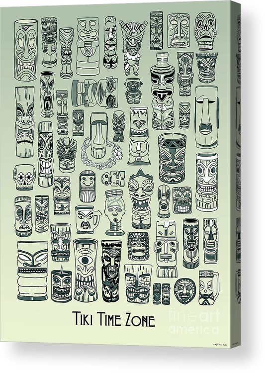 Ancient Relic Acrylic Print featuring the digital art Tiki Treasure Zone by Megan Dirsa-DuBois