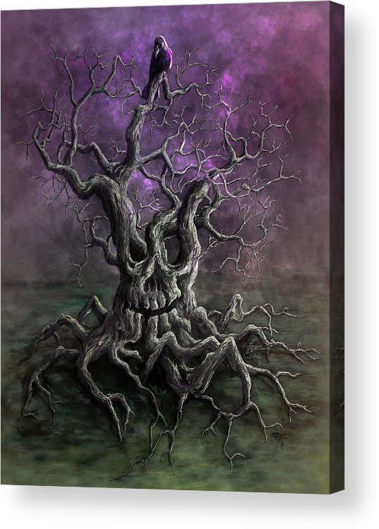Spooky Acrylic Print featuring the digital art Tree Of Death by Rob Carlos