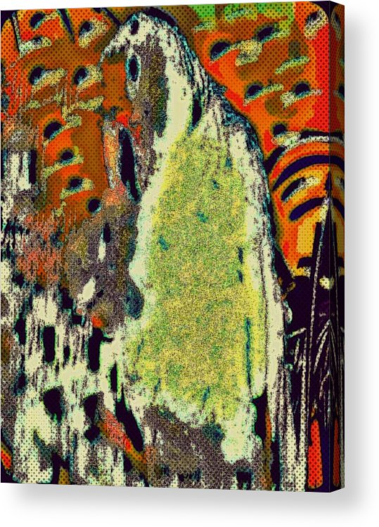 Parrot Acrylic Print featuring the mixed media Walk With Birds by YoMamaBird Rhonda