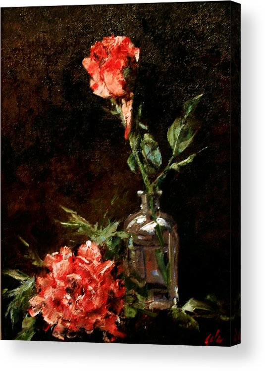 Floral Acrylic Print featuring the painting Wild Irish by Jim Gola
