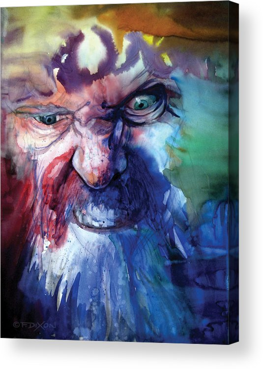 Emotions Acrylic Print featuring the painting Wizzlewump by Frank Robert Dixon