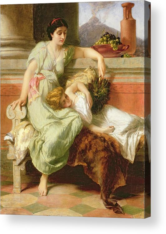 Pompeii Acrylic Print featuring the painting Pompeii by Alfred W Elmore