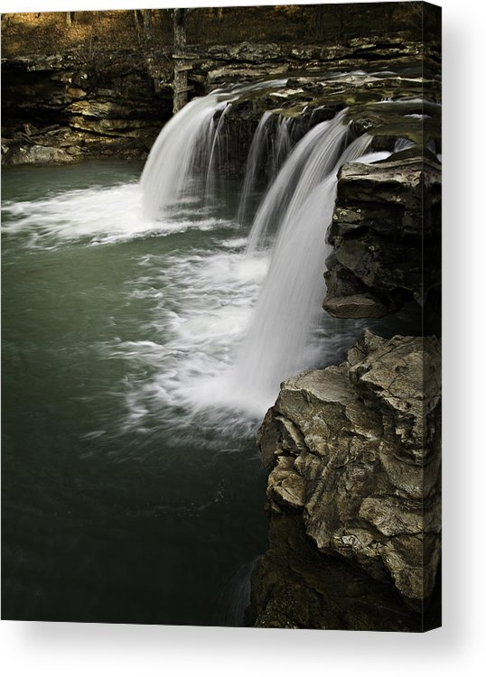 Arkansas Acrylic Print featuring the photograph 0804-0013 Falling Water Falls 4 by Randy Forrester