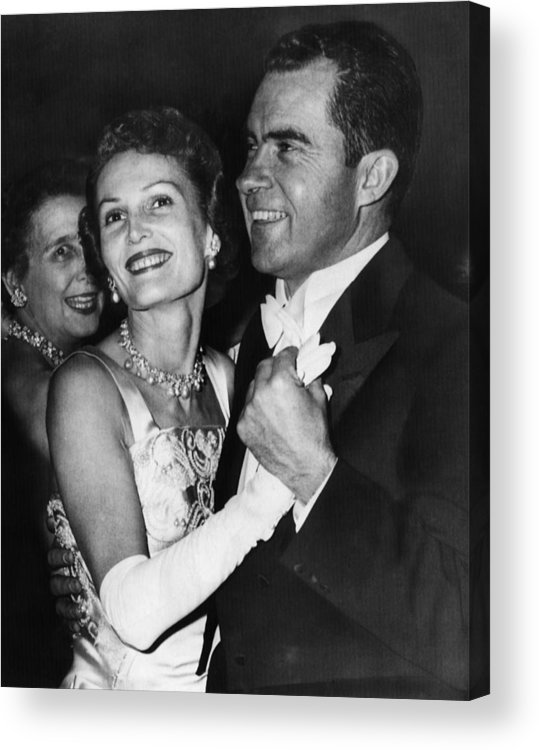 1950s Acrylic Print featuring the photograph 1957 Presidential Inauguration. Vice by Everett