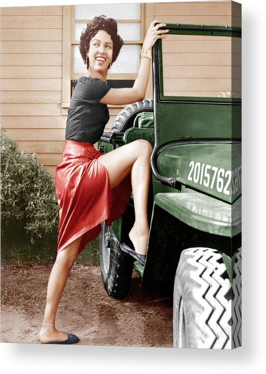 1950s Portraits Acrylic Print featuring the photograph Carmen Jones, Dorothy Dandridge, 1954 by Everett