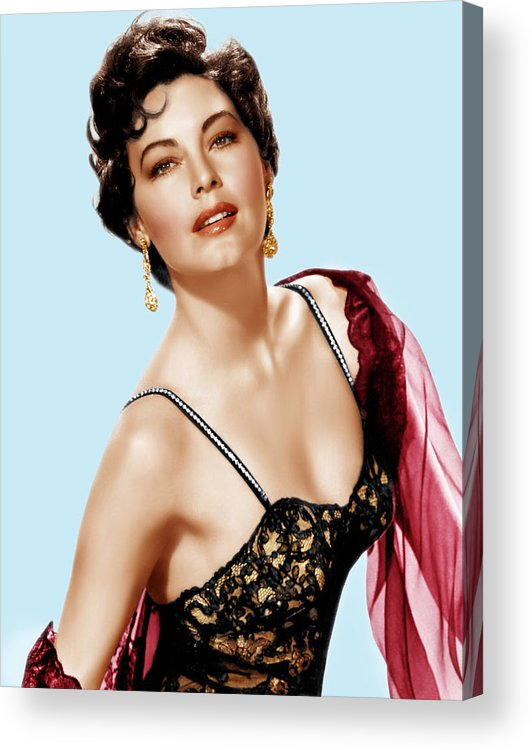 1950s Portraits Acrylic Print featuring the photograph Ava Gardner, Ca. 1950s by Everett