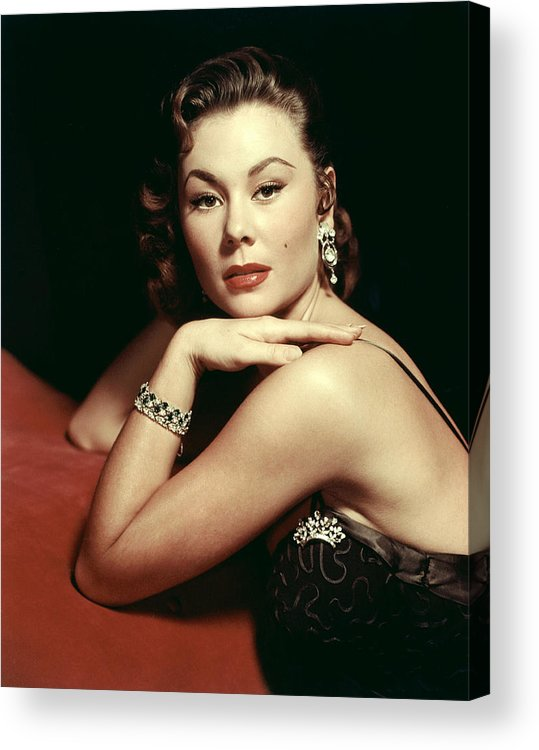 1950s Portraits Acrylic Print featuring the photograph Mitzi Gaynor, Ca. Early 1950s by Everett