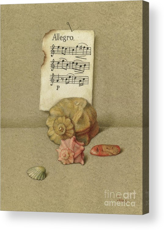 Still Life Acrylic Print featuring the painting Allegro by Victor Sap
