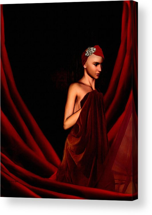 Breast Cancer Acrylic Print featuring the digital art Beautifully Red by Lourry Legarde