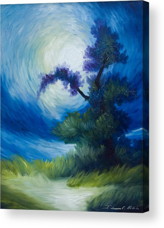 Nature Acrylic Print featuring the painting Bonzai II by James Christopher Hill