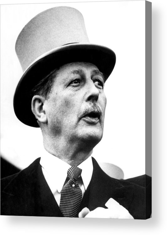 1950s Acrylic Print featuring the photograph British Prime Minister Harold by Everett