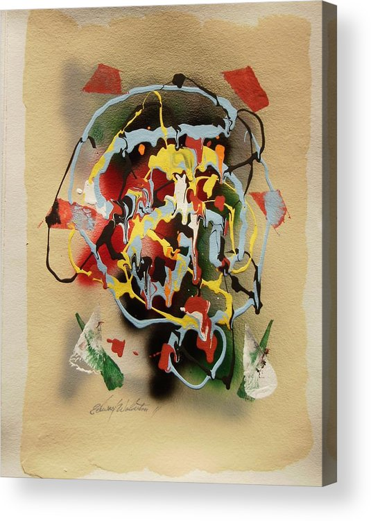 Speechless Acrylic Print featuring the painting Calibrated Speachless Thought by Edward Wolverton