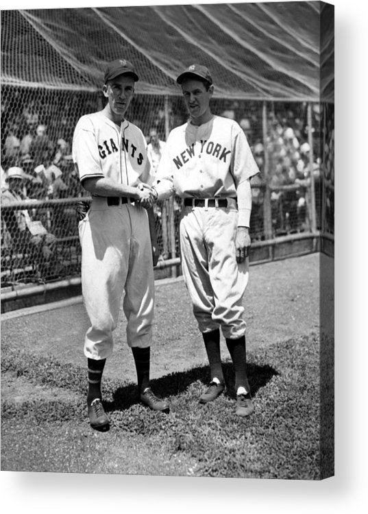 1930s Candid Acrylic Print featuring the photograph Carl Hubbell & Vernon Lefty Gomez by Everett