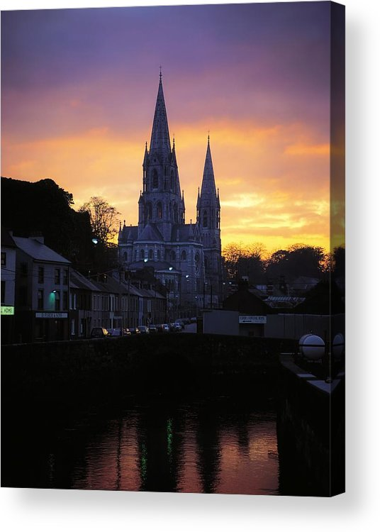 Back Lit Acrylic Print featuring the photograph Church In A Town, Ireland by The Irish Image Collection