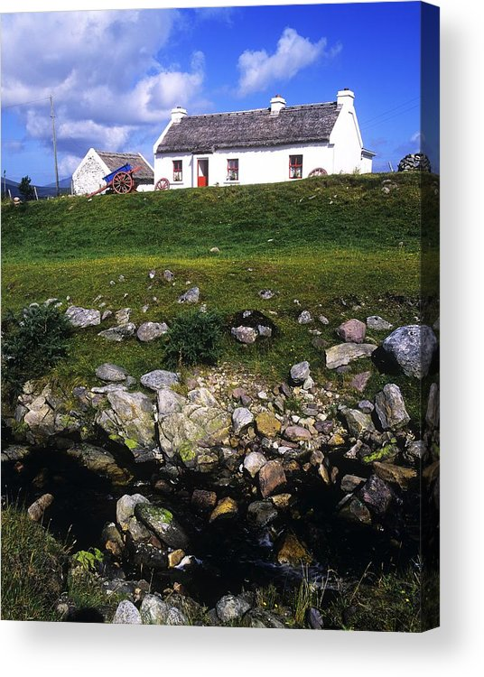 Travel Destination Acrylic Print featuring the photograph Cottage On Achill Island, County Mayo by The Irish Image Collection